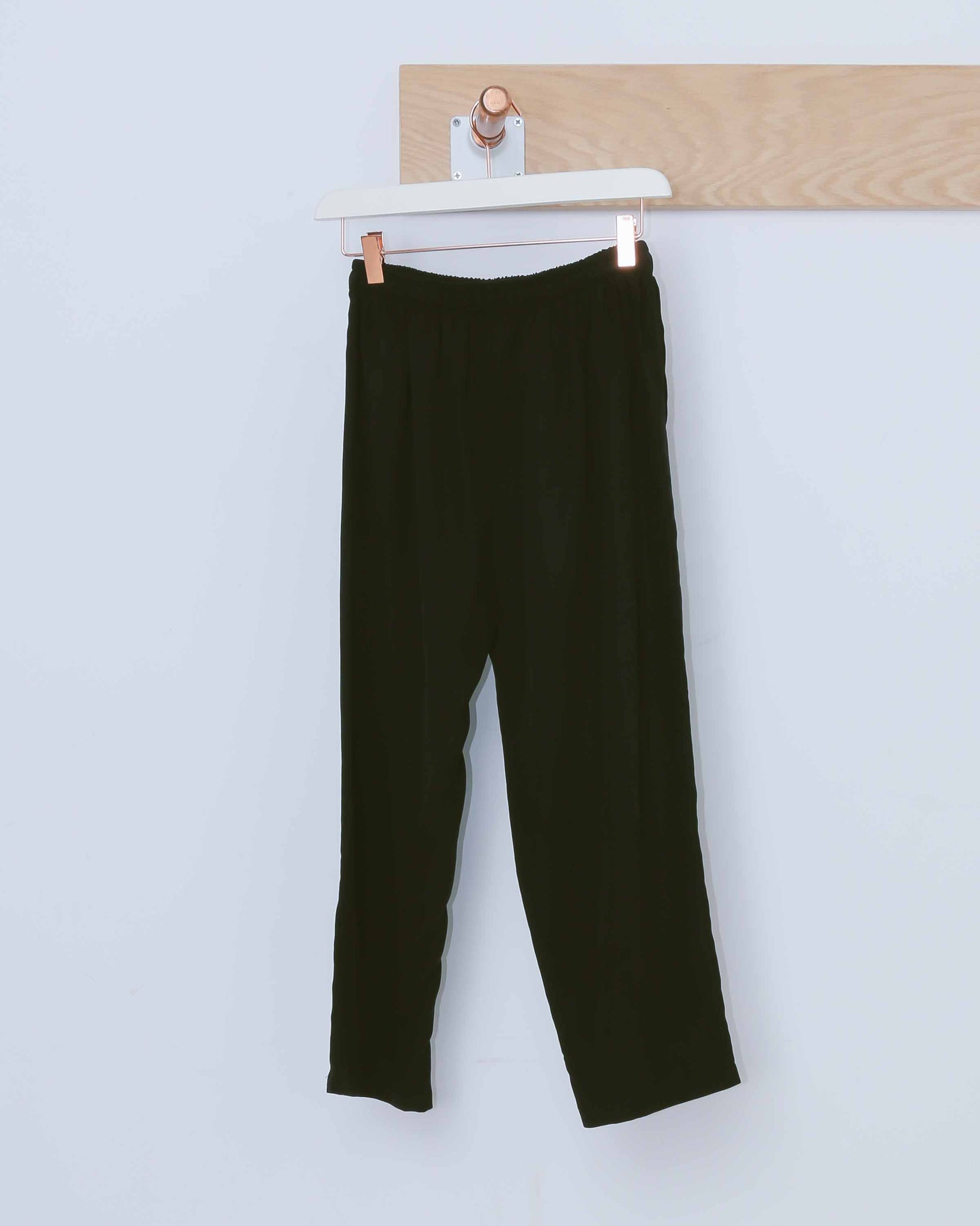 Black Tapered Drawstring Trousers