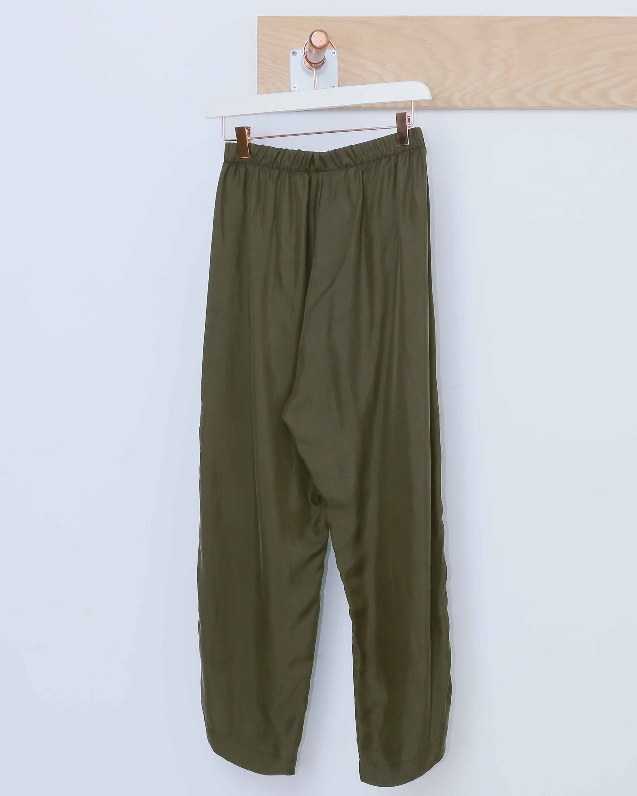 Olive Green Easy Trousers
