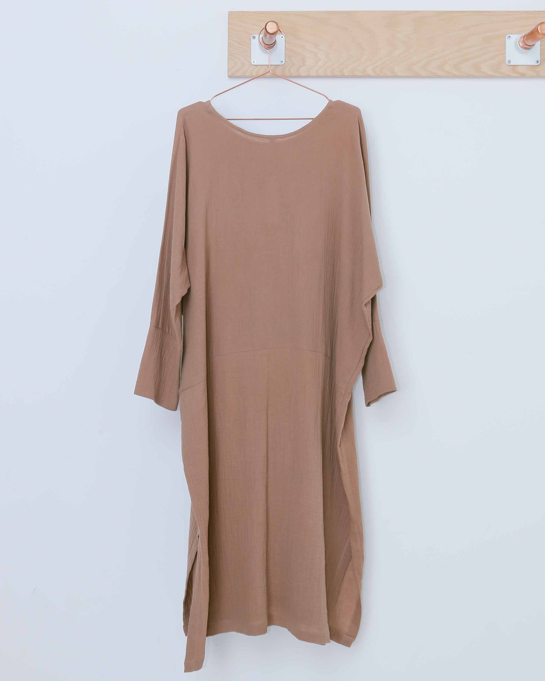 Textured Dolman Sleeve Dress