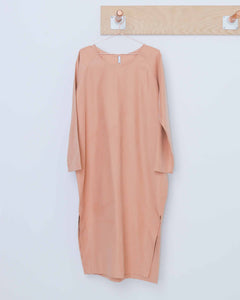 Raglan Sleeve Side Slit Dress
