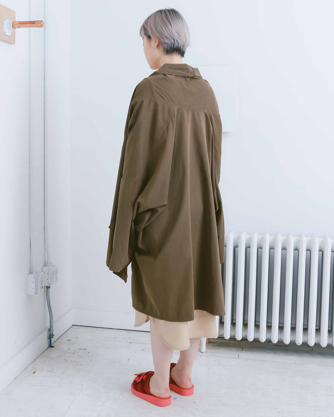 Olive Draped Fatigue Jacket