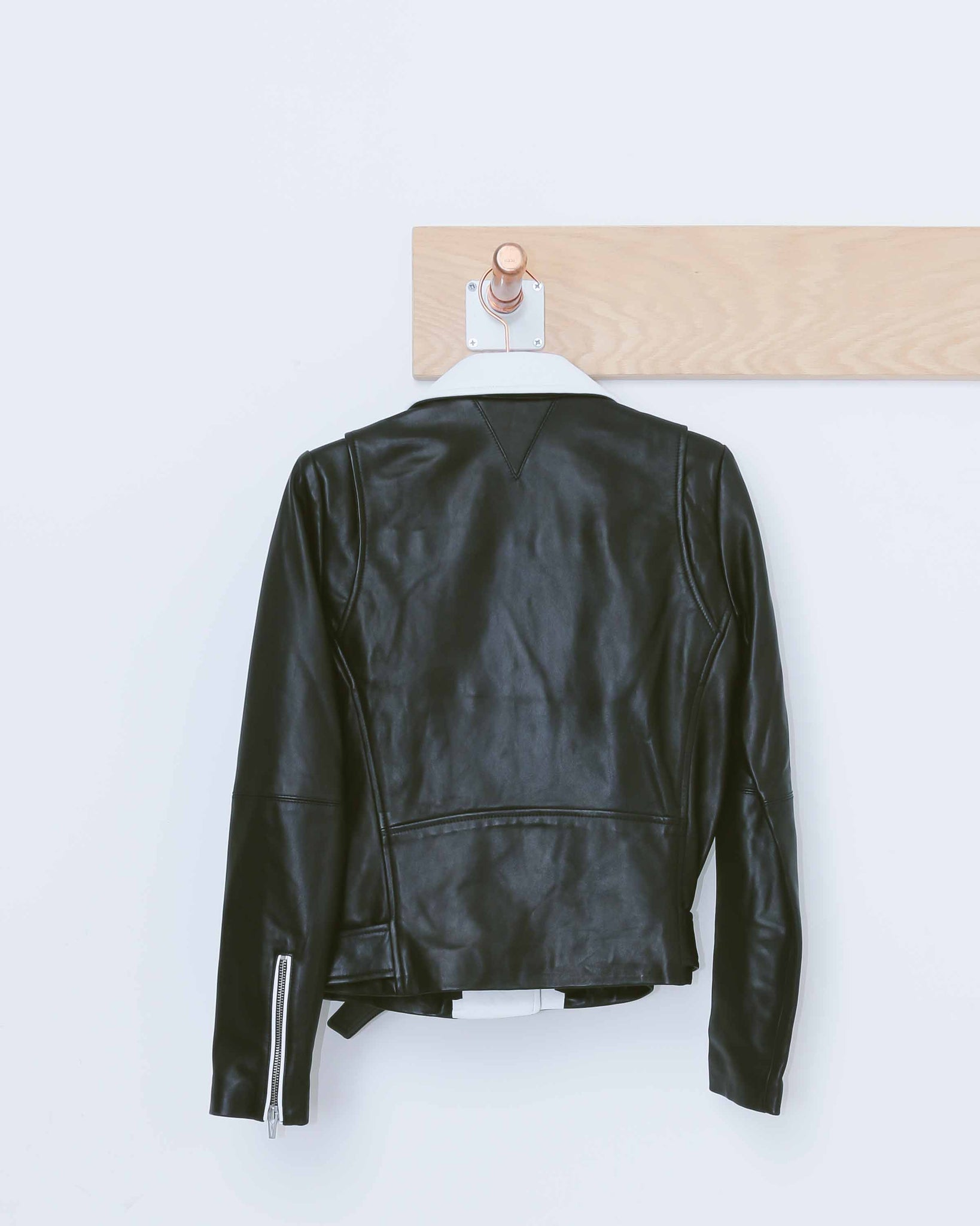 Black & White Maui Moto Jacket