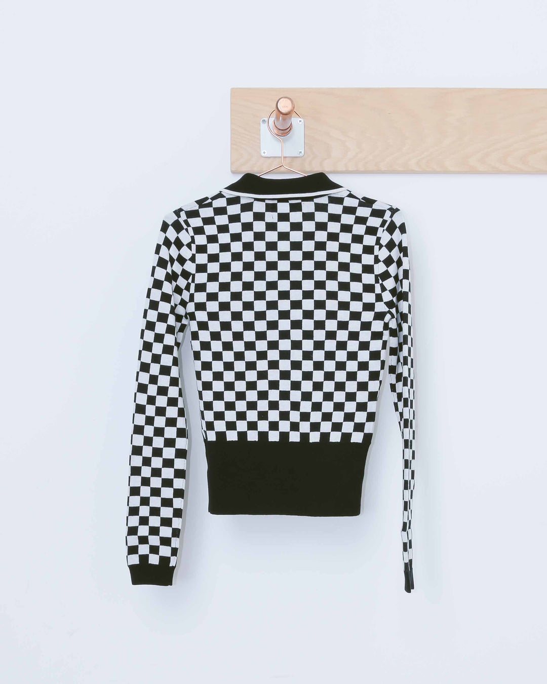 Black & White Check M.T.V Sweater