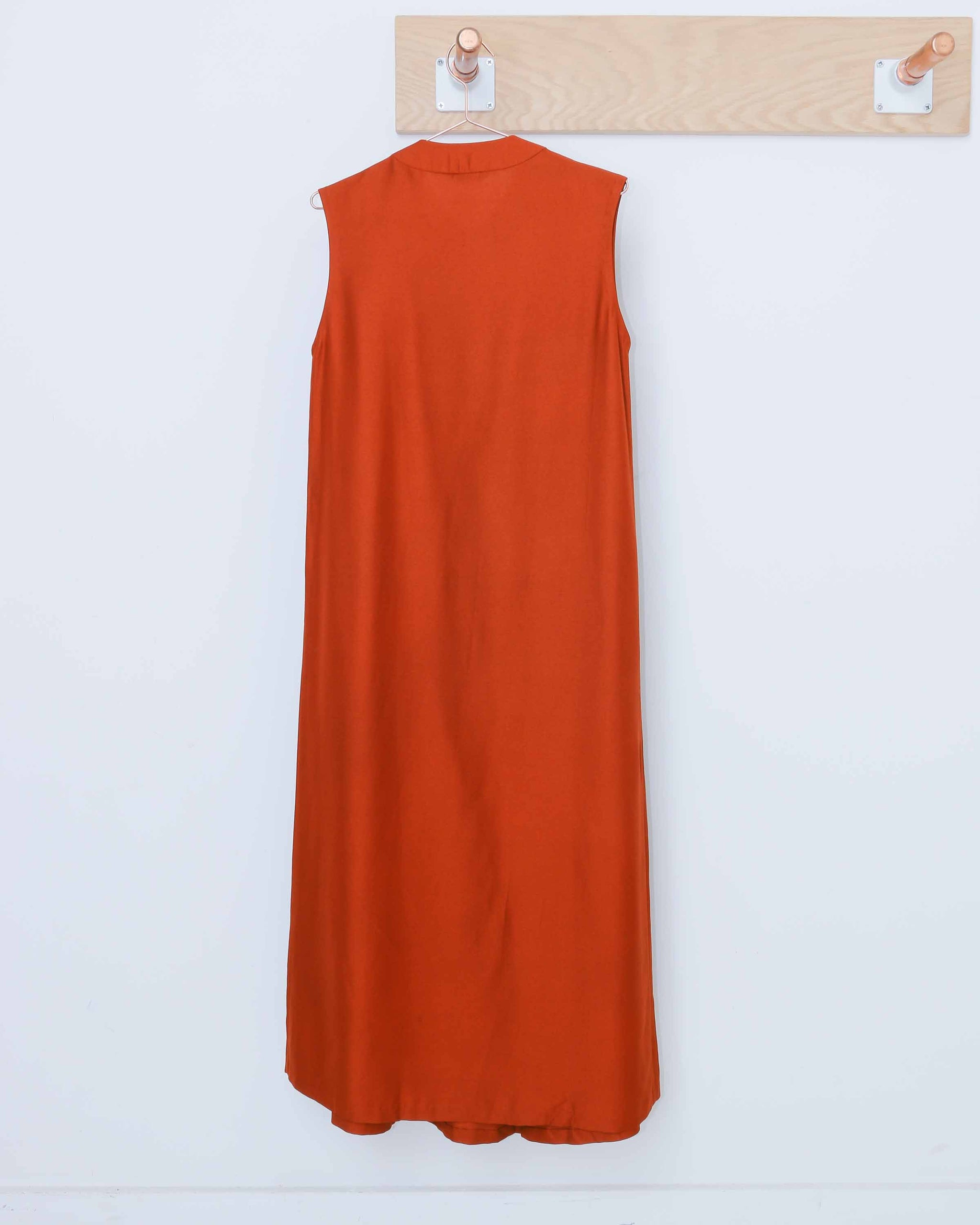 Orange Marble Goby Sleeveless Maxi Dress