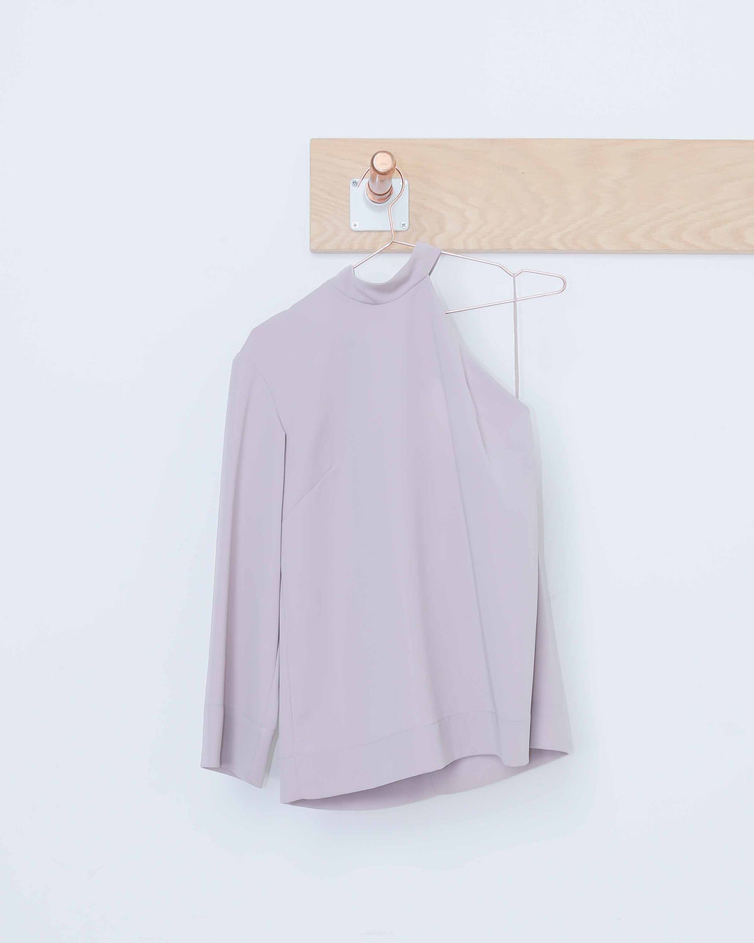 Mauve Cutout Shoulder Top