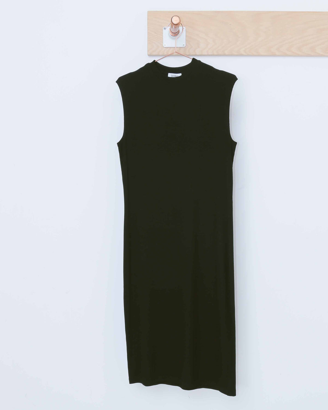 Black Midi Mock Neck Dress