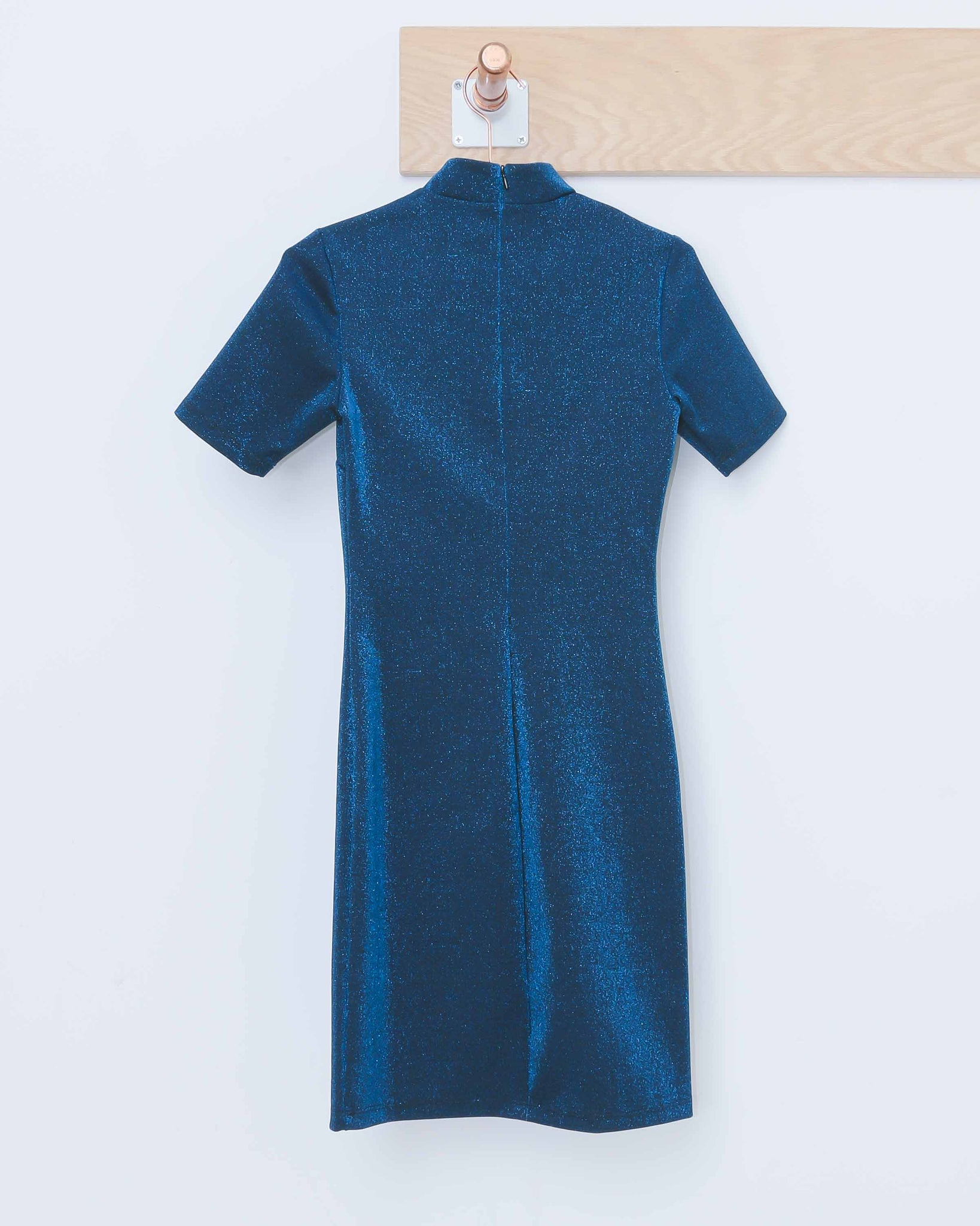 Blue Lurex S/S Dress