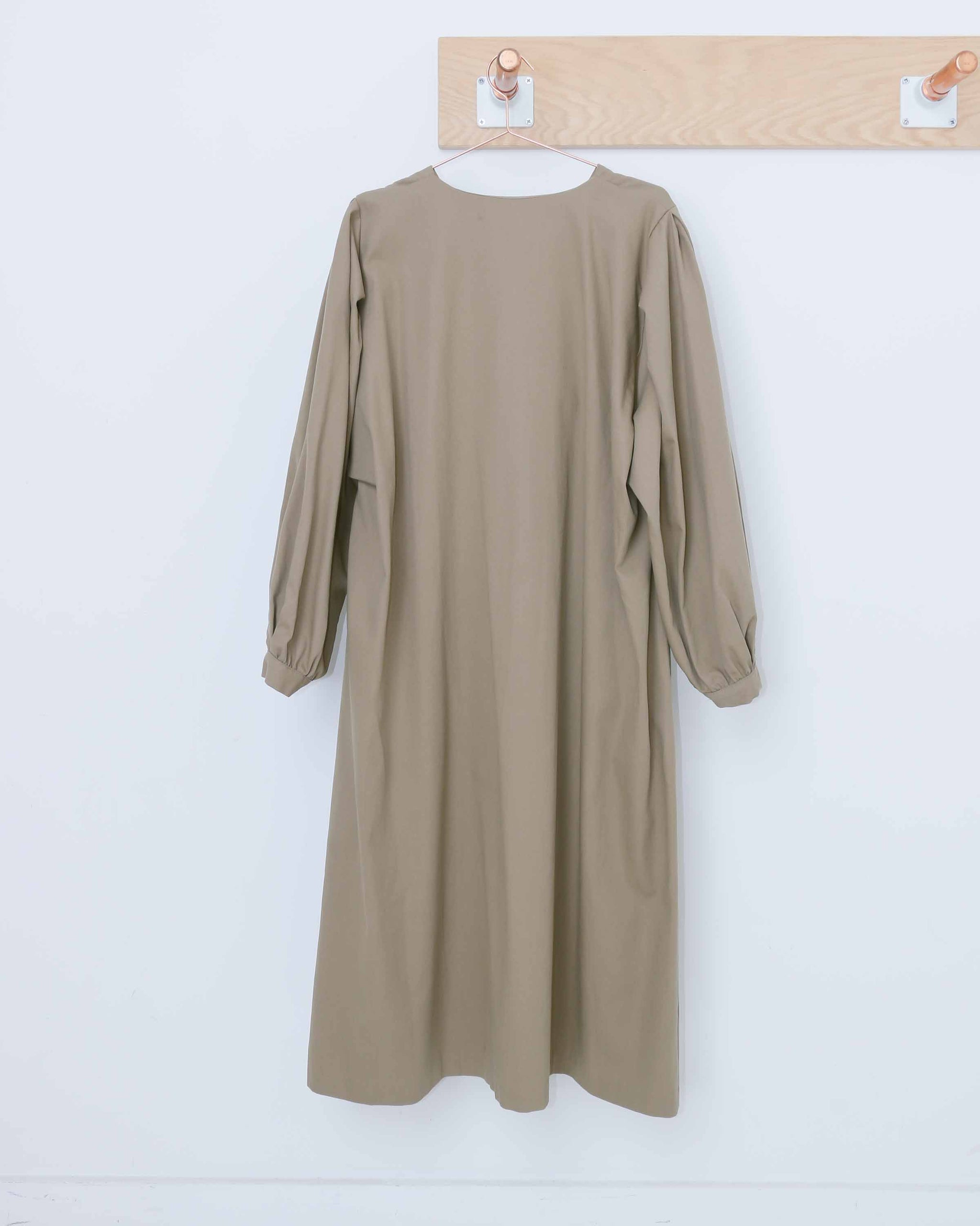 Khaki Loose Cotton Dress