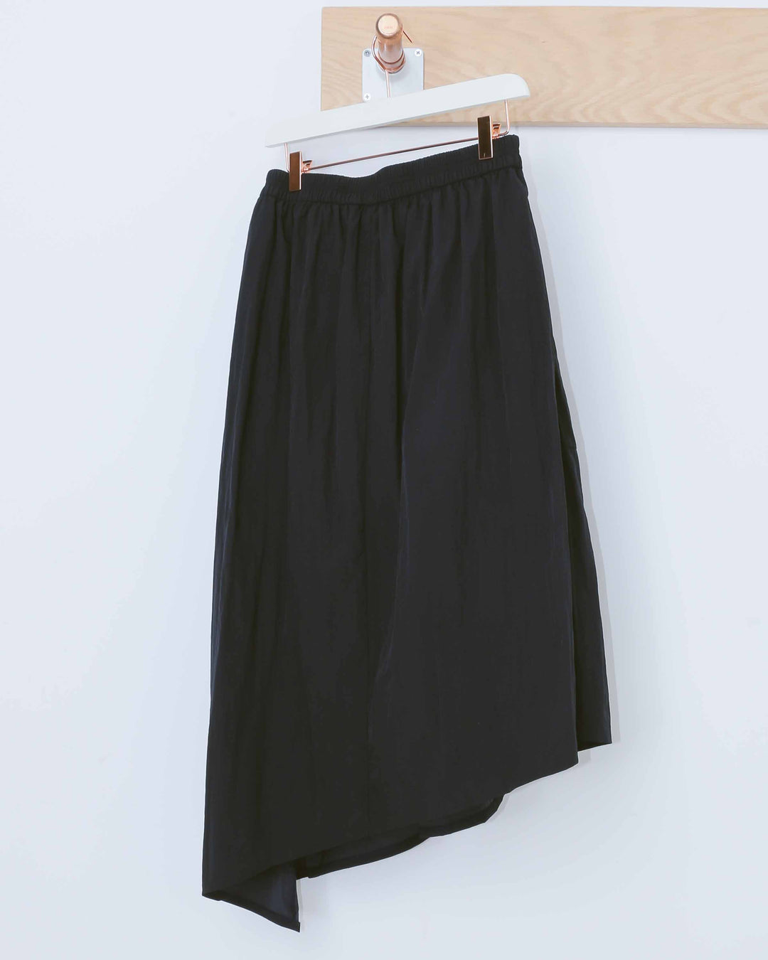 Navy Asymmetrical Skirt