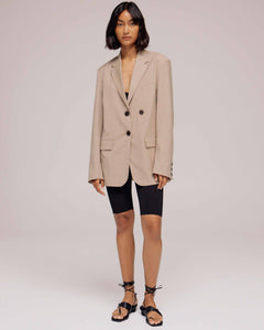 Beige Oversized Tailored Jacket