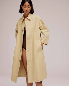 Sand Linen Trench
