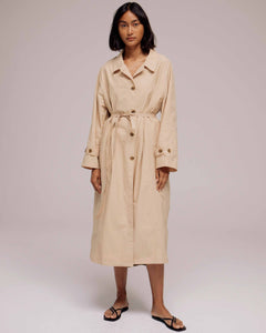 Beige Light Weight Belted Trench