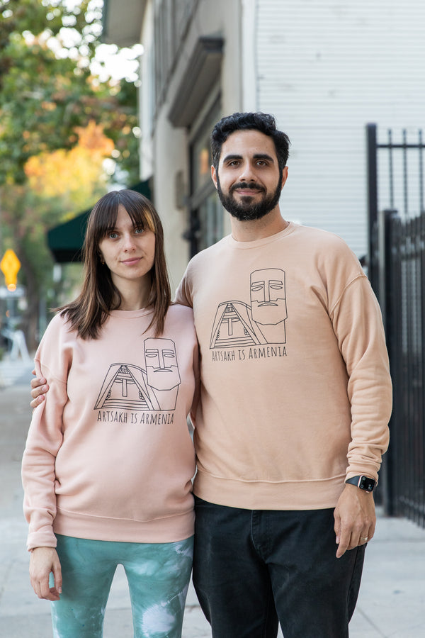 Artsakh is Armenia Sweater - Peach