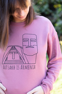 Artsakh is Armenia Sweater - Mauve