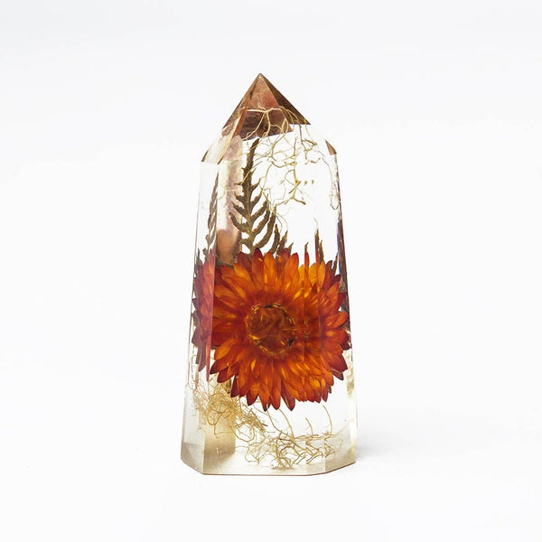 Flora Crystal Large — orange flower