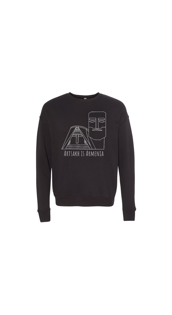 Artsakh is Armenia Sweater - BLACK