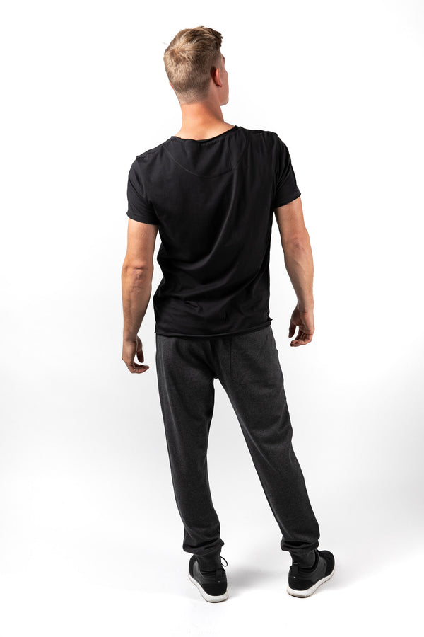 Men's crew neck relaxed fit - black