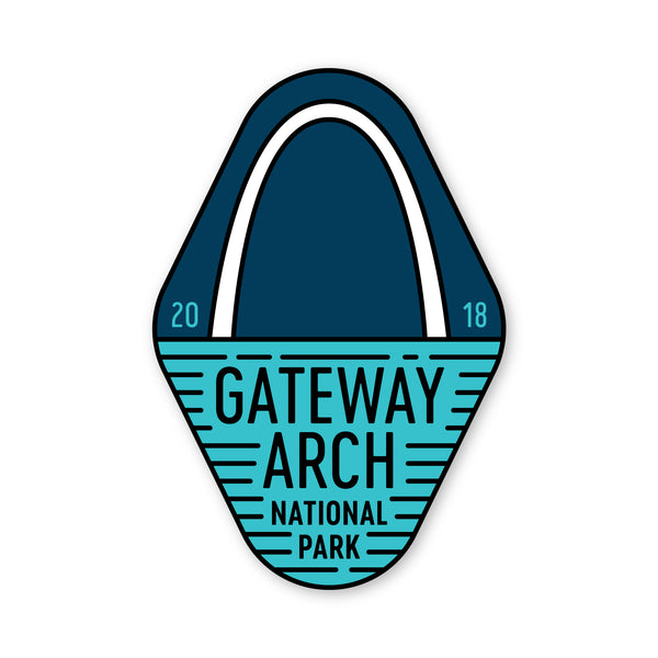 Gateway Arch National Park Sticker