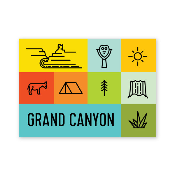 Grand Canyon Squares Postcard