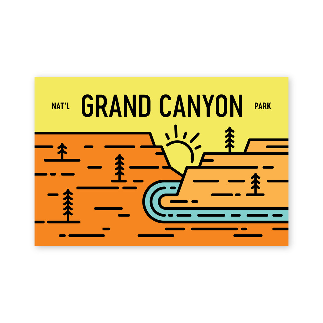 Grand Canyon Badge Postcard