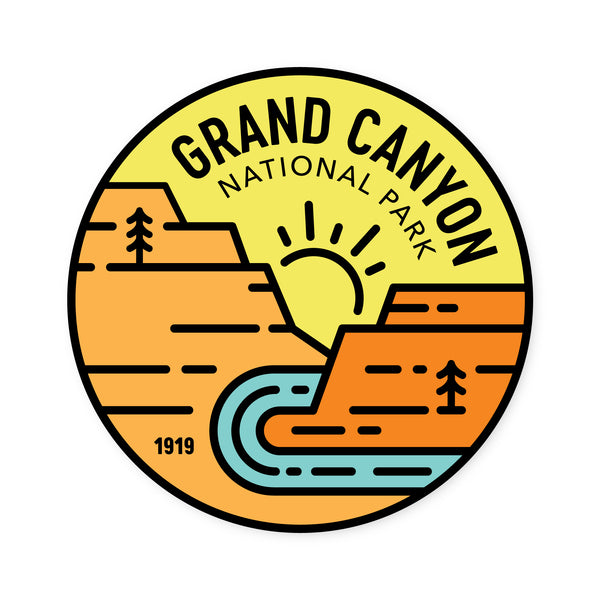 Grand Canyon Badge Sticker