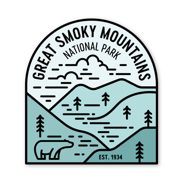 Great Smokey Mountains National Park Sticker