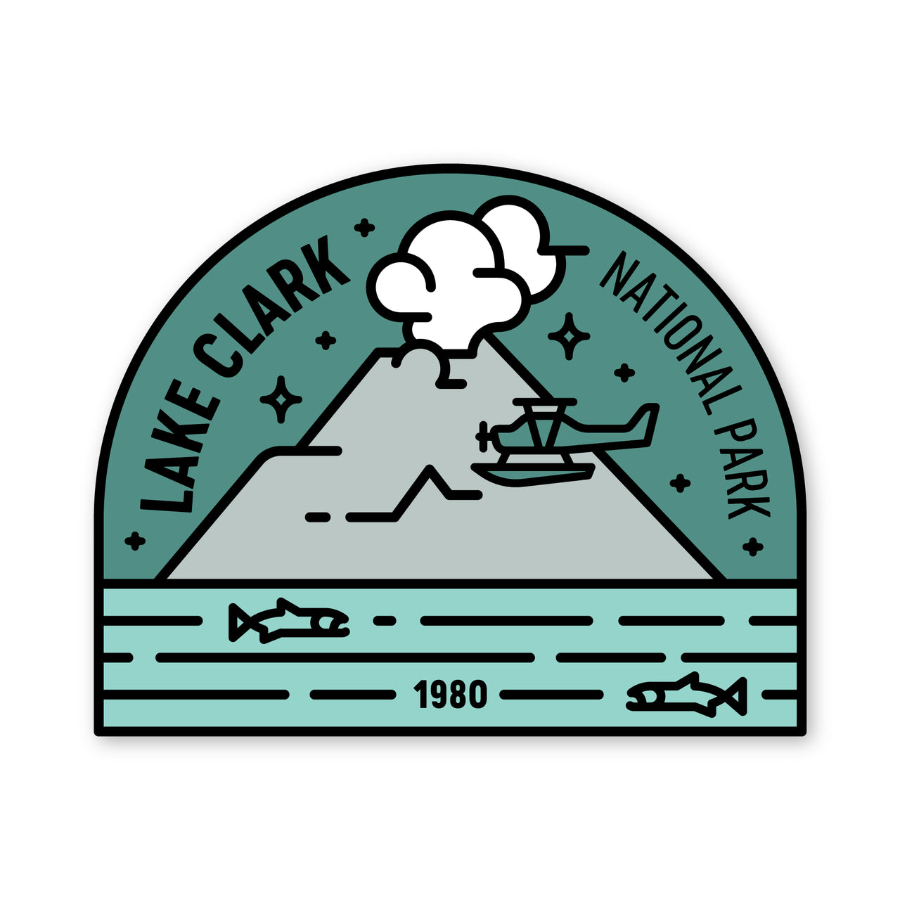 Lake Clark National Park Sticker