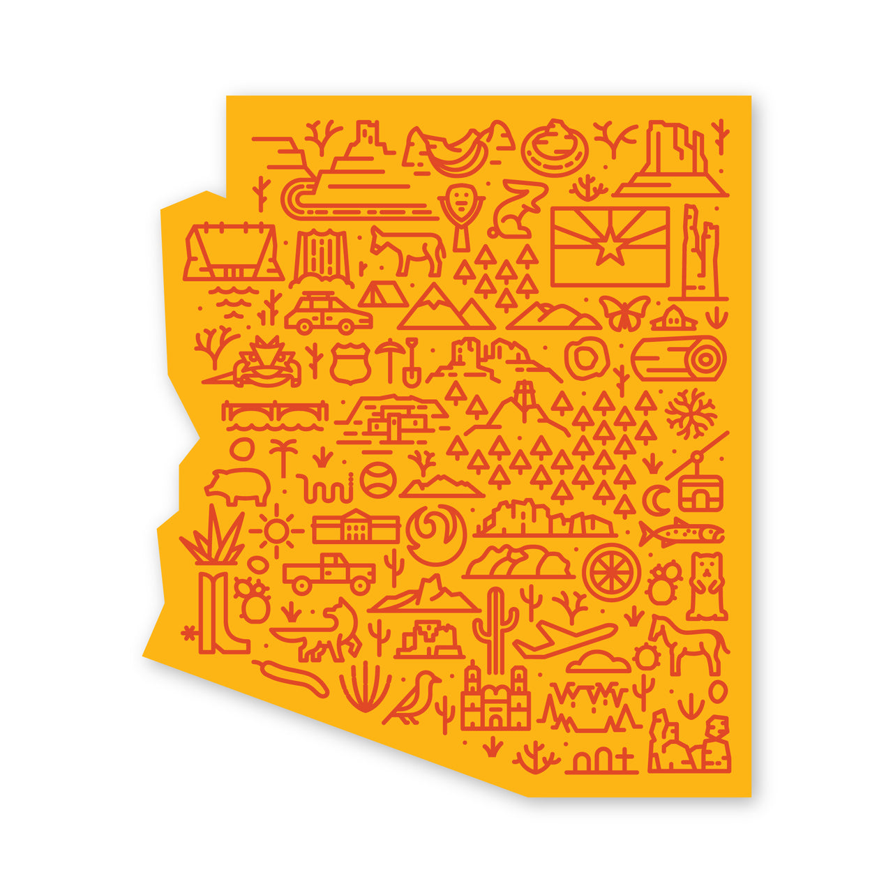 Arizona Map Sticker