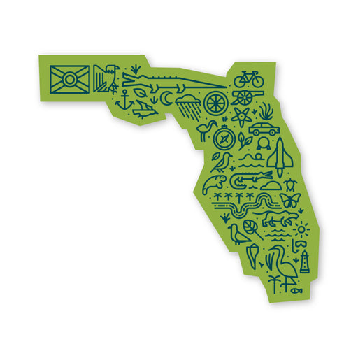 Florida Map Sticker