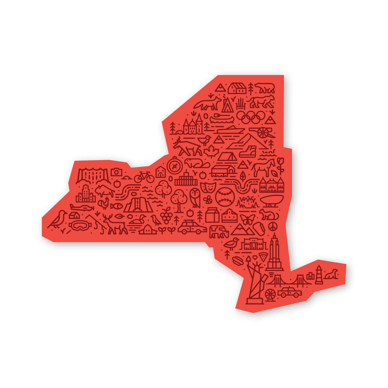 New York Map Sticker
