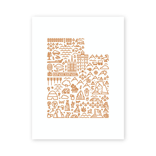 Utah Map Screen Print