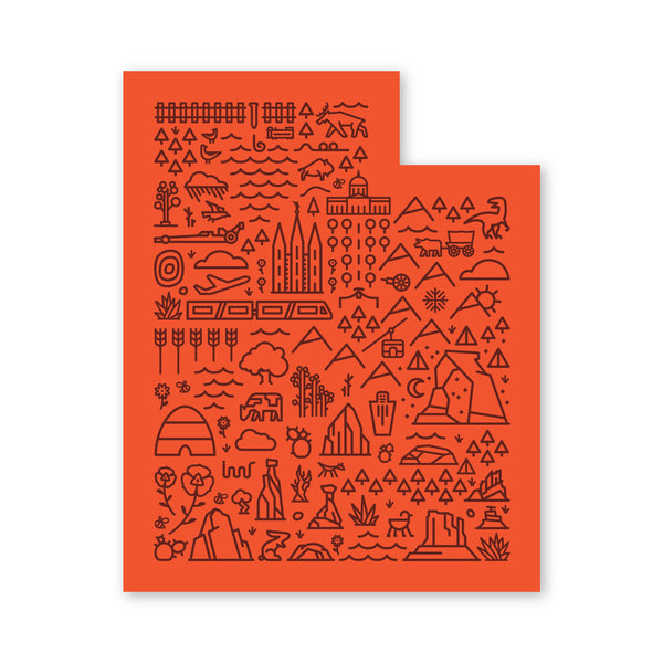 Utah Map Sticker