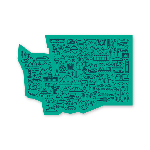 Washington Map Sticker
