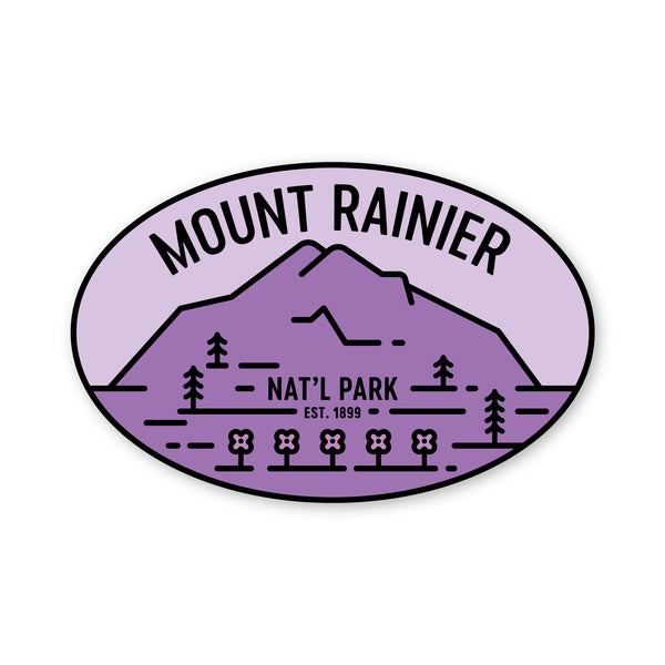 Mount Rainier National Park Sticker