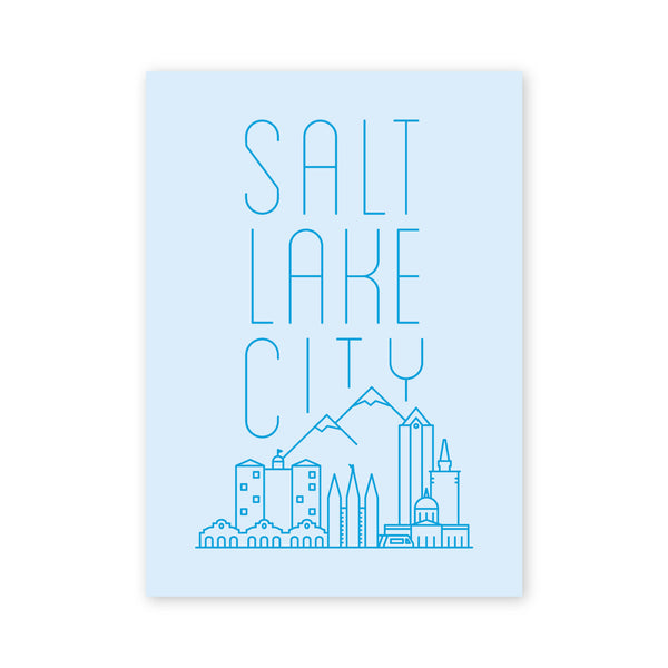Salt Lake City Skyline Postcard