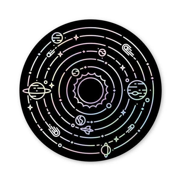 Holographic Solar System Sticker