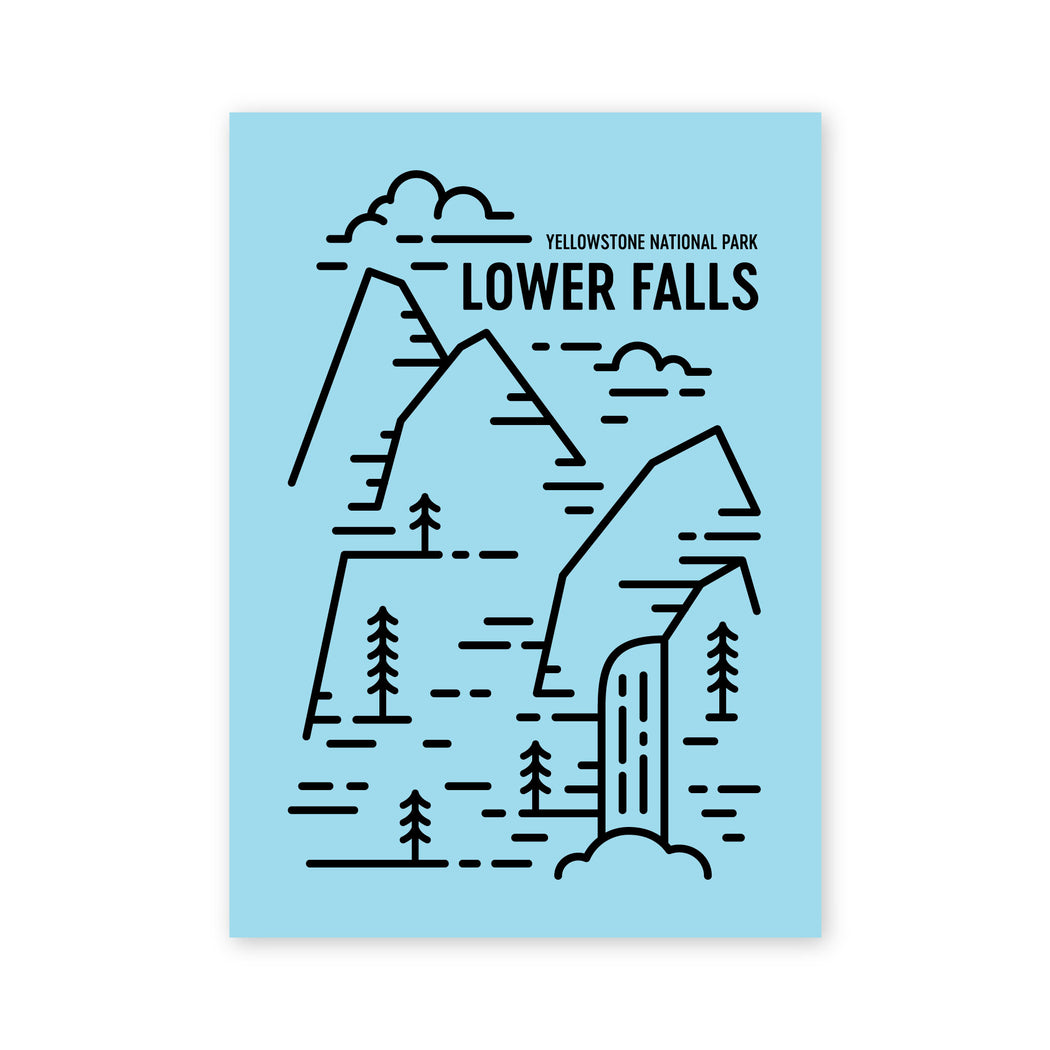 Lower Falls Postcard