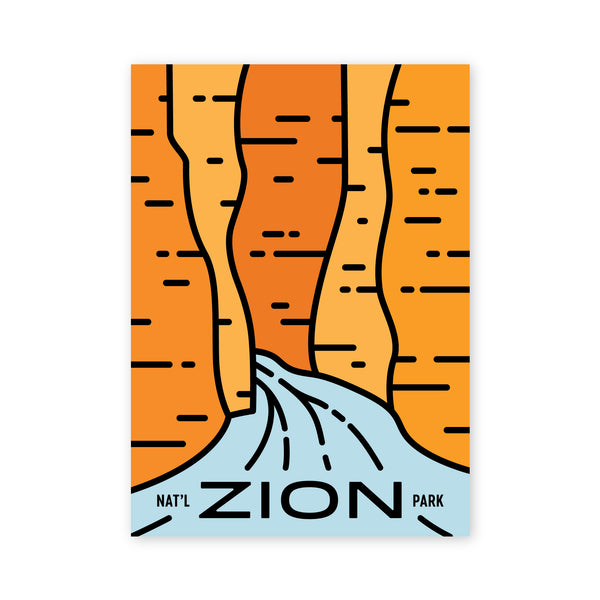 Zion Narrows Postcard