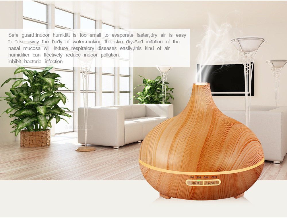 Wooden Essential Oil Diffuser Aroma Lamp