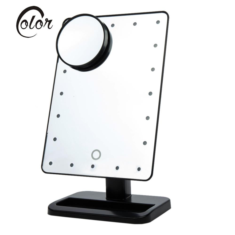 Lighted Makeup Mirror With Zooming Mirror