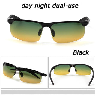 Men's Aluminium-Magnesium Night Vision Goggles/ Anti-Glare Polarized Sunglasses