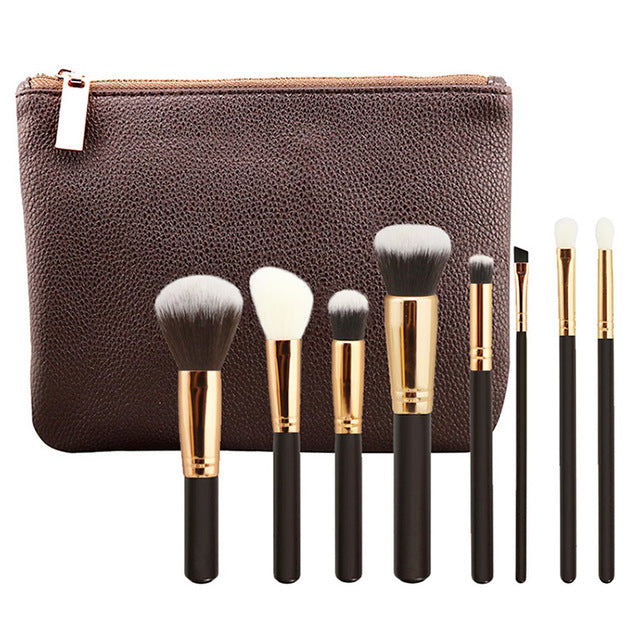 ROSE GOLD Plated COMPLETE MAKEUP BRUSH SET