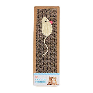 Sisal Hemp Card Scratch Board For Cats & Kitten With Mouse & Fish Pattern