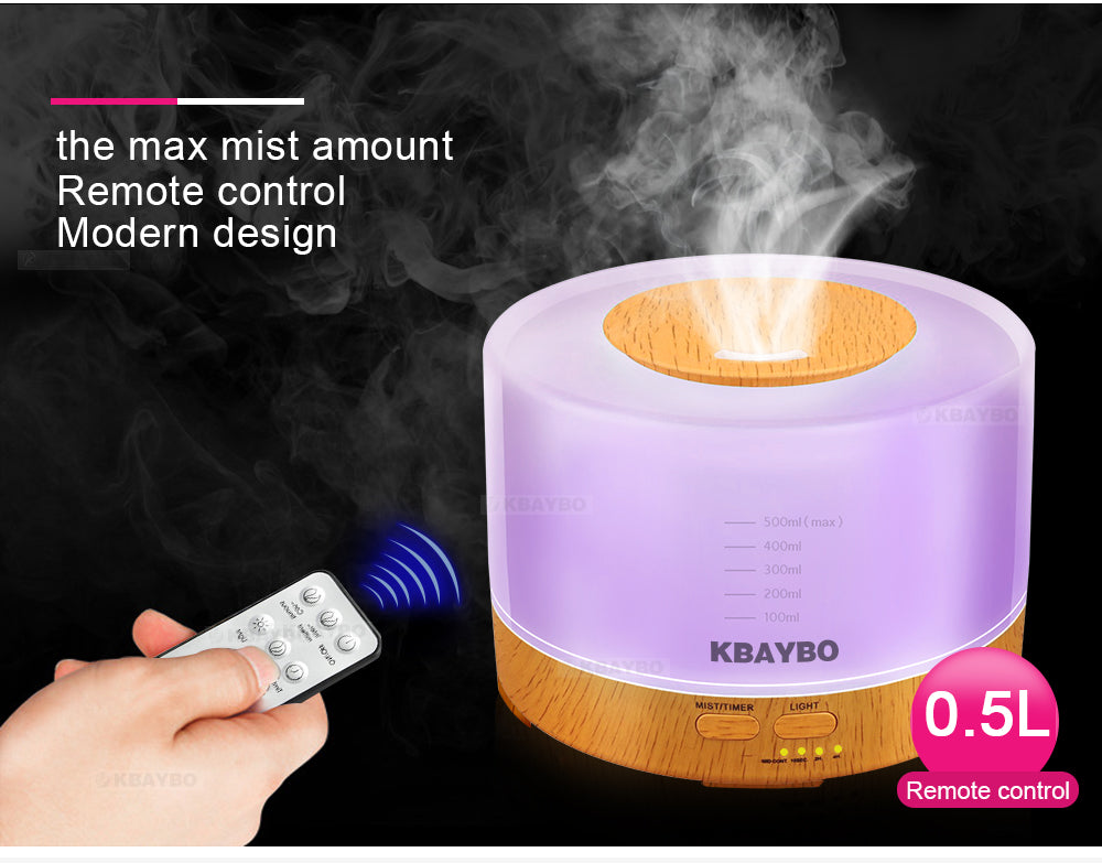 Aroma Essential Oil Diffuser With Remote Control