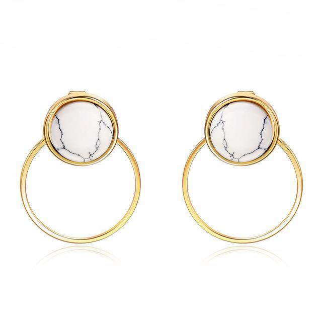 New Fashion Light Gold Stud Earring