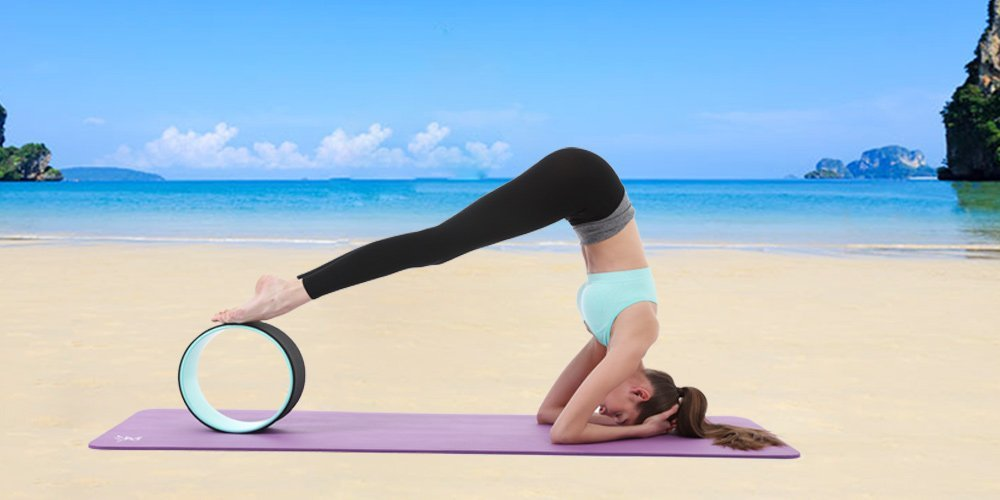 Yoga Wheel Pose Roller For Improved Flexibility and Balance