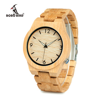 Natural Bamboo Luxury Watch