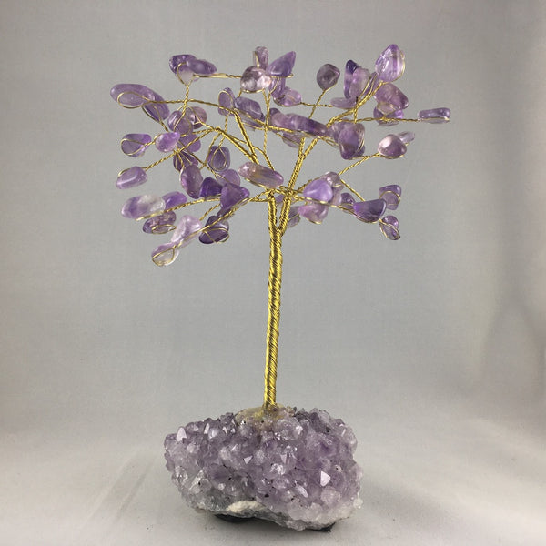 LARGE WIRE GEMSTONE TREES