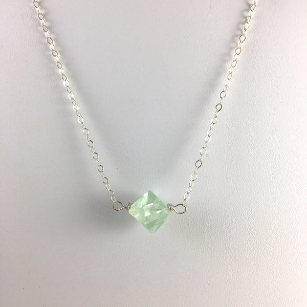 FLUORITE OCTAHEDRON NECKLACE