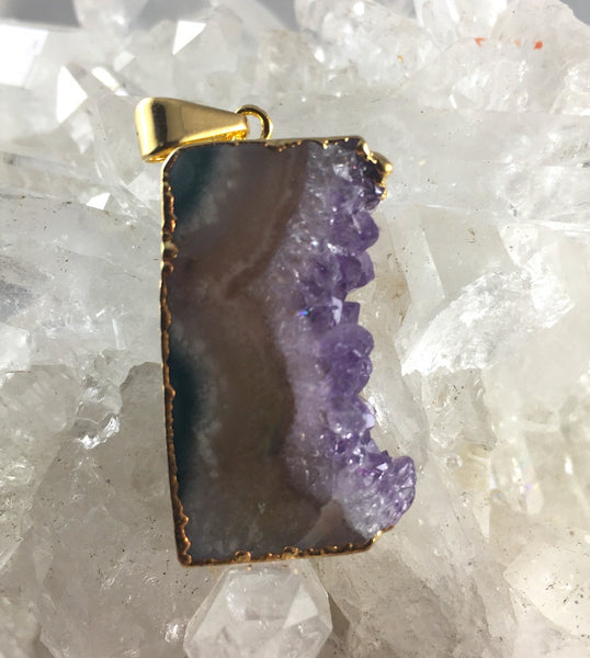 AMETHYST SIDE SLICE PENDANT